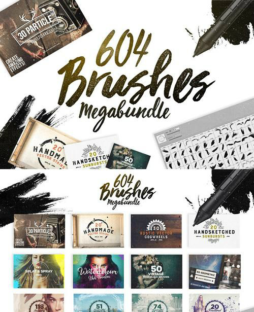604 Photoshop Brushes Megabundle 932478