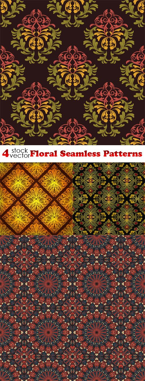 Vectors - Floral Seamless Patterns