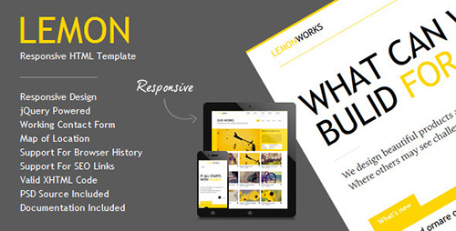 ThemeForest - Lemon v1.5 - Responsive Portfolio Template - 2463584