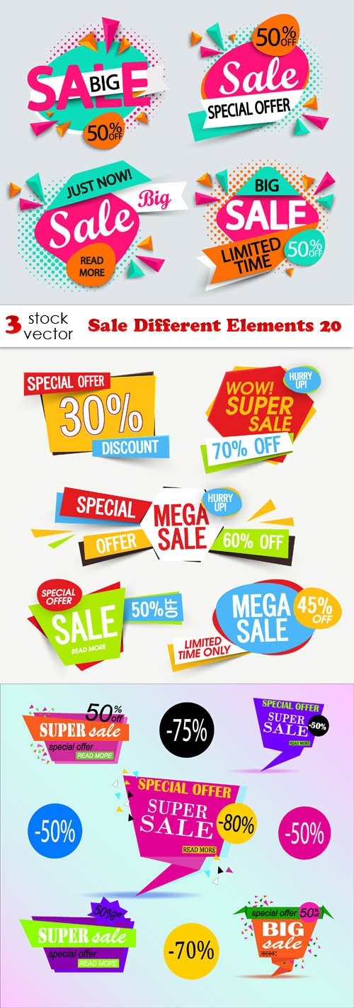 Vectors - Sale Different Elements 20