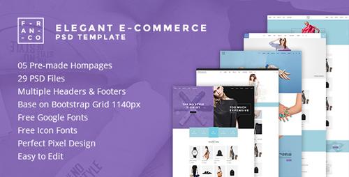 Franco - Elegant eCommerce PSD Template 15706760