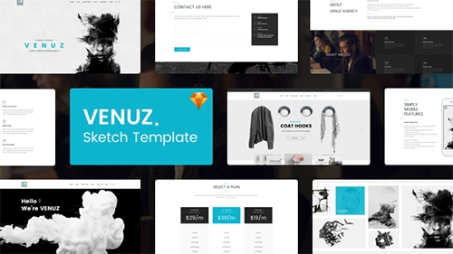 ThemeForest - VENUZ v1.0 - Business Sketch Template - 15462651