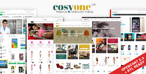 ThemeForest - CosyOne v2.8 - Multipurpose Opencart Theme - 9257138