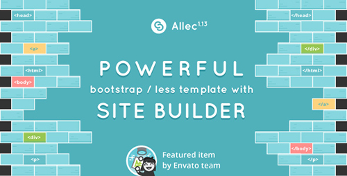 ThemeForest - Allec v1.13 - Bootstrap/LESS Template with Site Builder - 8986248