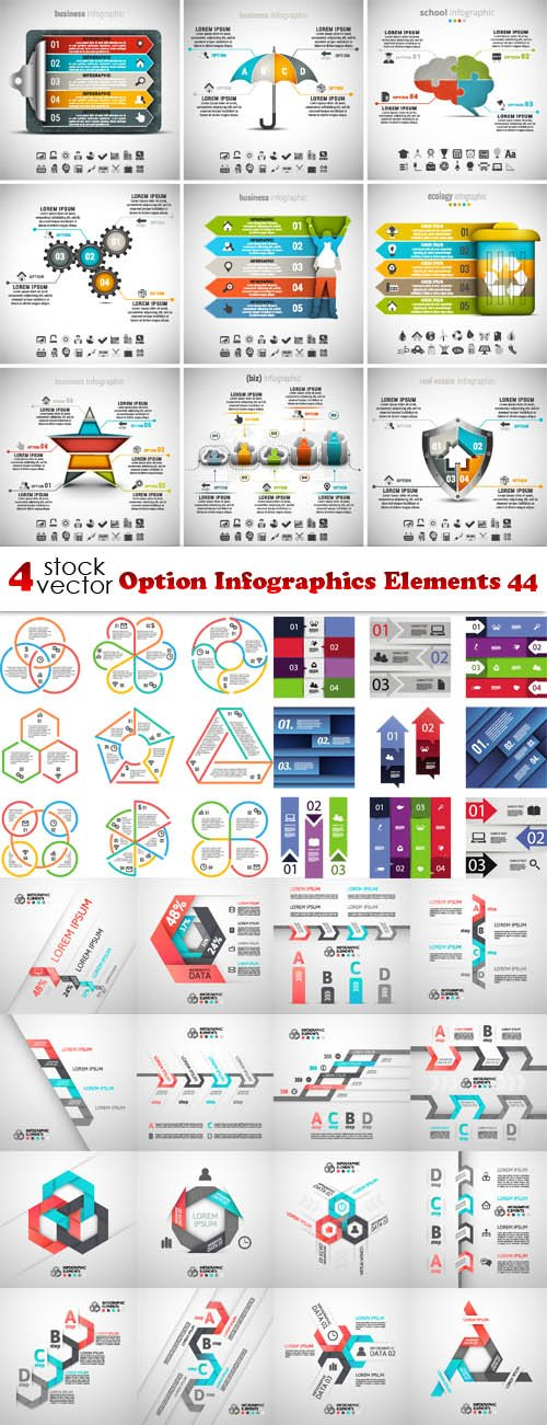 Vectors - Option Infographics Elements 44