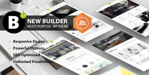 ThemeForest - BUILDER v2.0.0 - Responsive Multi-Purpose Theme - 3596009