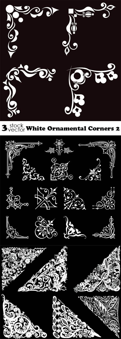 Vectors - White Ornamental Corners 2