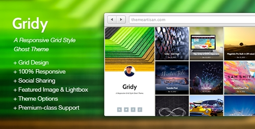 ThemeForest - Gridy v1.1 - A Responsive Grid Style Ghost Theme - 6410403