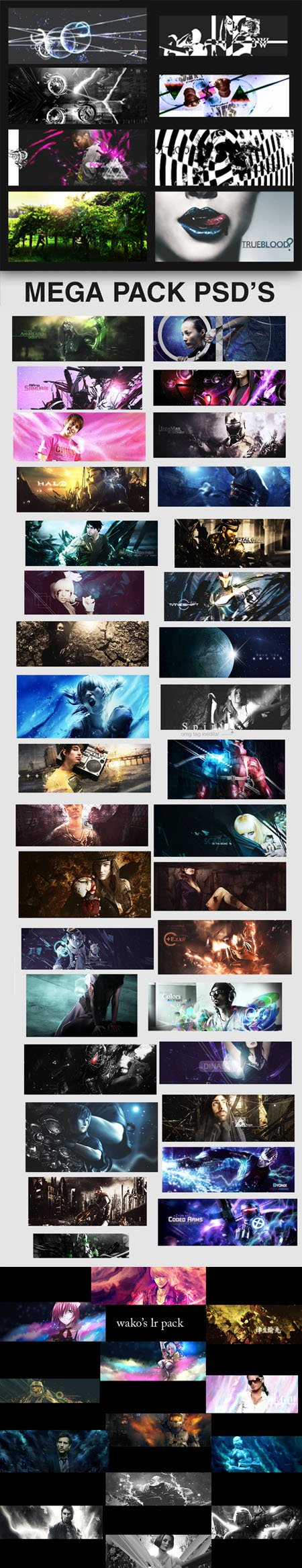 55 PSDs Pack with Awesome Effects