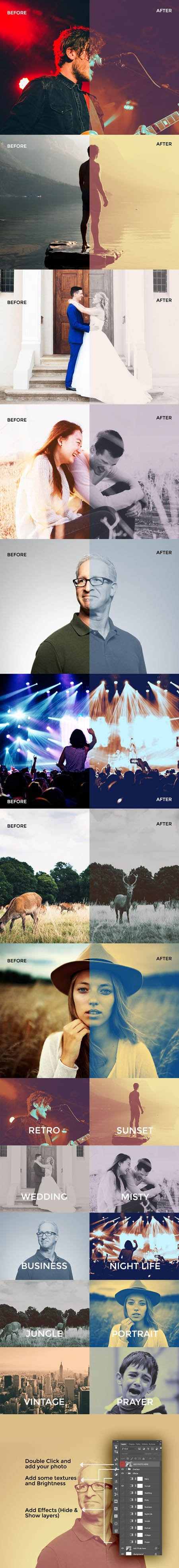 10 Photo Effects PSD Templates