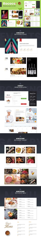 Rococo Restaurant Web UI Kit