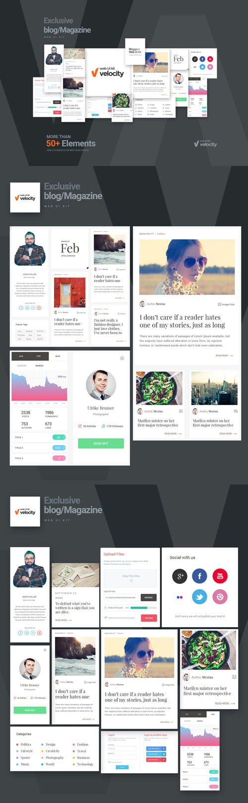 Velocity Bloggers Web UI Kit