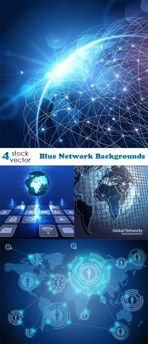 Vectors Blue Network Backgrounds Heroturko