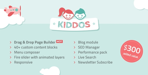 ThemeForest - Kiddos v1.1.1 - Hand Crafted Kids OpenCart Theme - 15218464
