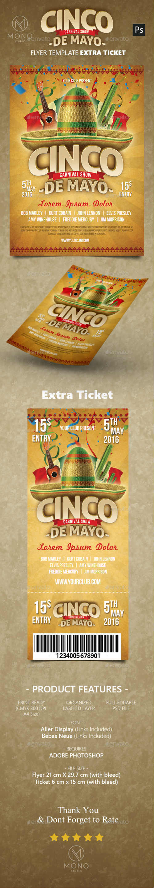 Cinco de Mayo Flyer 15882229