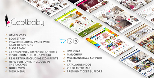 ThemeForest - Coolbaby v2.3.0 - Original OpenCart responsive theme - 12190190