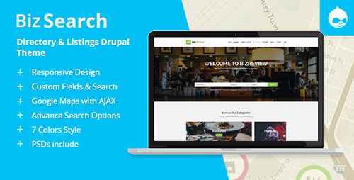 ThemeForest - BizSearch v1.2 - Directory & Listing Drupal Theme - 16976051