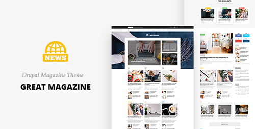 ThemeForest - Great Magazine - Responsive Magazine News Drupal 8 Theme (Update: 6 October 16) - 16883144