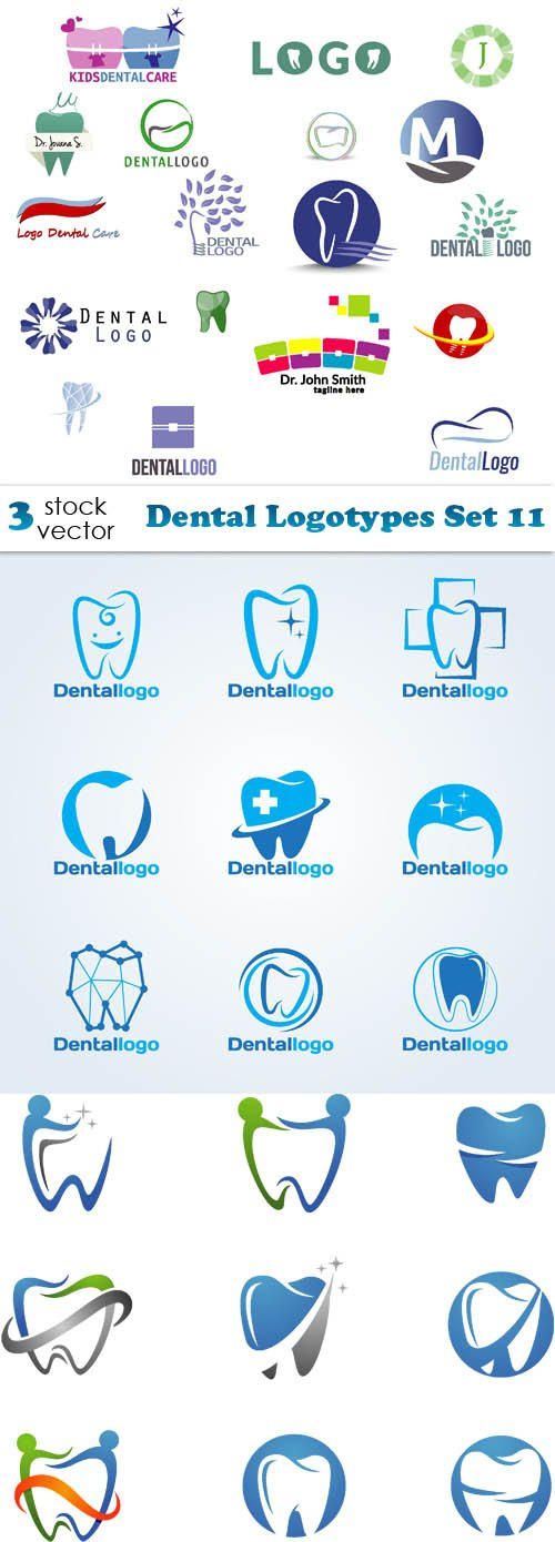Vectors - Dental Logotypes Set 11