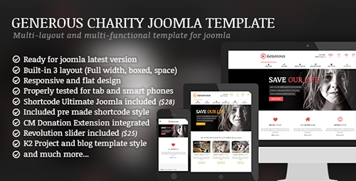 ThemeForest - Generous v1.3.0 - Charity Joomla Template - 10329259