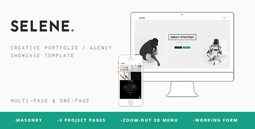 ThemeForest - Selene v1.0 - Creative Portfolio Agency Template - 11222224