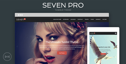 ThemeForest - Seven Pro v1.0 - Tumblr Theme - 11171337