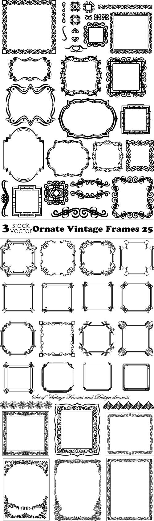 Vectors - Ornate Vintage Frames 25