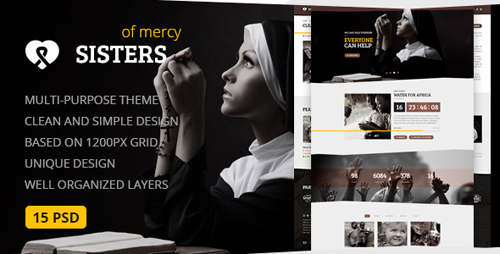 Sisters of Mercy - Nonprofit PSD Template 12366101