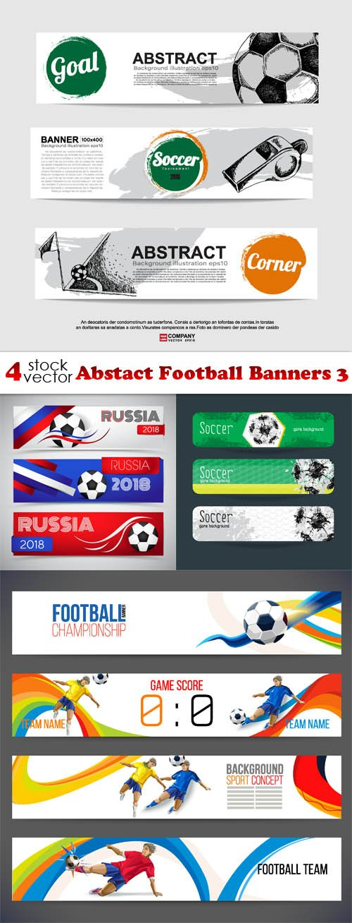 Vectors - Abstact Football Banners 3