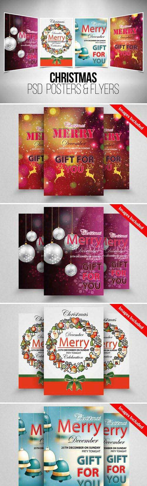 4 Christmas Flyer Template Bundle - 923664