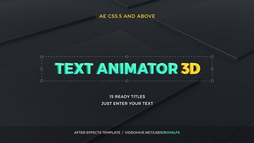 Text Animator 03: 3D Corporate Titles - Project for After Effects (Videohive)