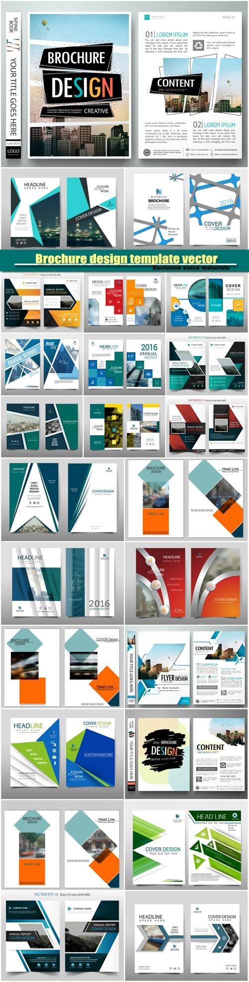 Brochure design template vector layout, cover book portfolio