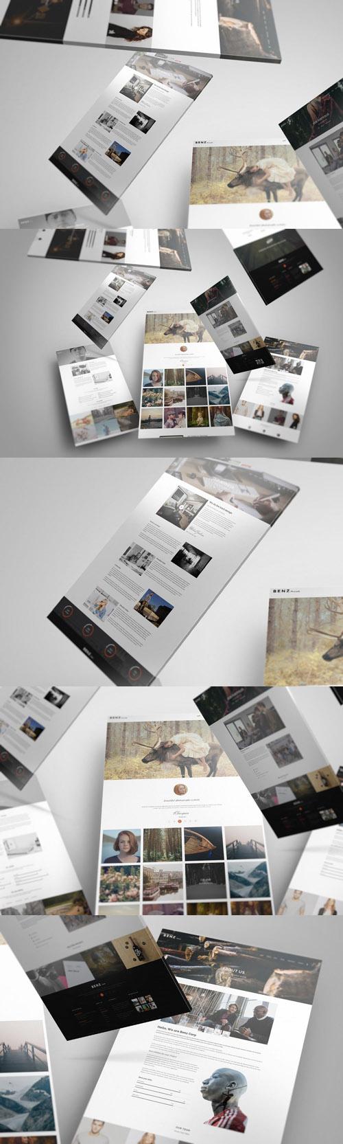 Web Showcase Mockup 07