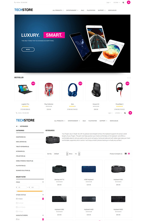 ThemeGlobal - Techstore v1.1 - OpenCart Template