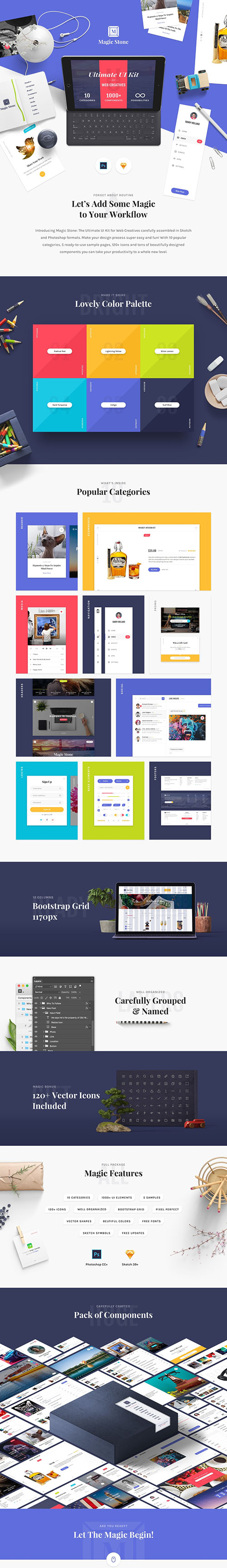 Magic Stone UI Kit - The Ultimate UI Kit for Web Creatives