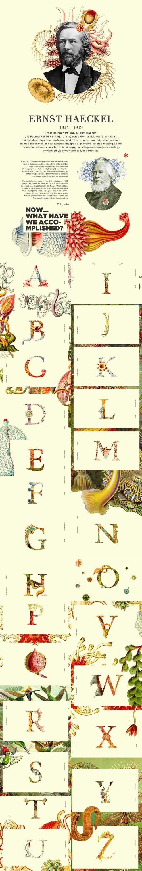 Ernst Haeckel Typeface PNG