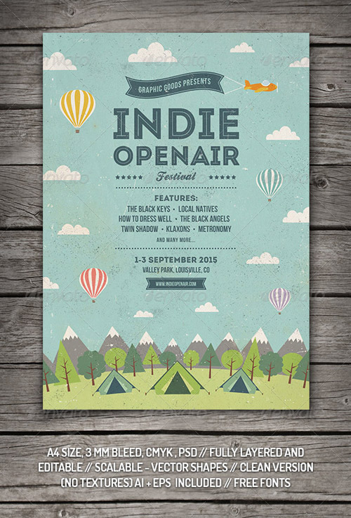 Indie Open-air Festival Flyer/Poster 8430907