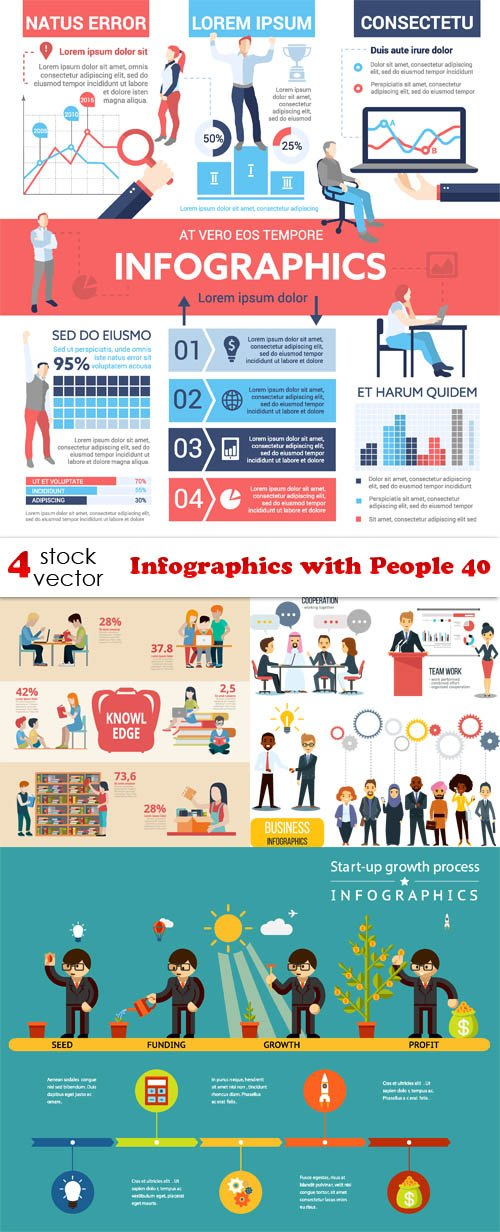 Vectors - Infographics with People 40