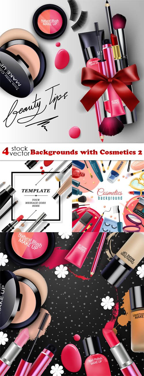 Vectors - Backgrounds with Cosmetics 2