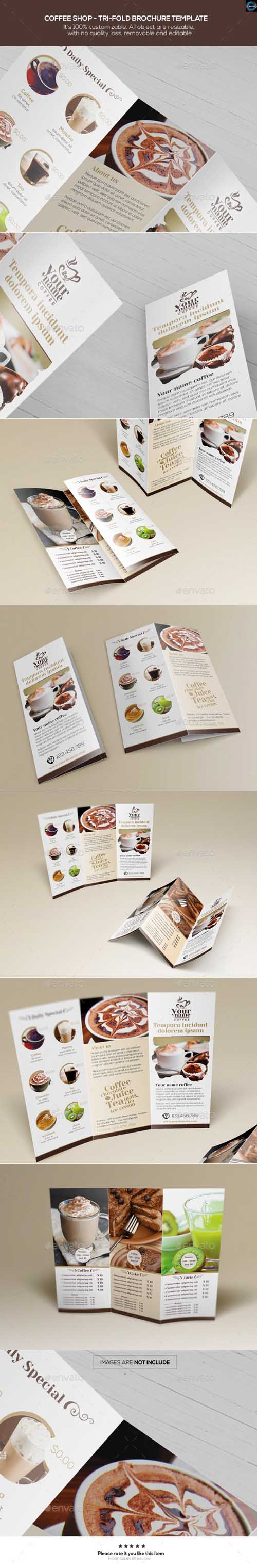 Coffee Shop - Trifold Brochure Template 12435787