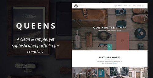 ThemeForest - Queens v1.0 - Creative One-page Drupal Theme - 11022054