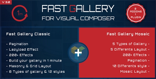 CodeCanyon - Fast Gallery for Visual Composer Wordpress Plugin v3.0 - 9526045