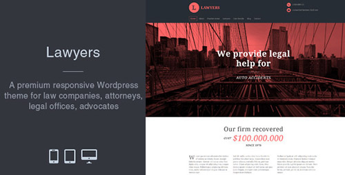 ThemeForest - Lawyers v2.3.0 - Responsive Business Wordpress Theme - 6835497