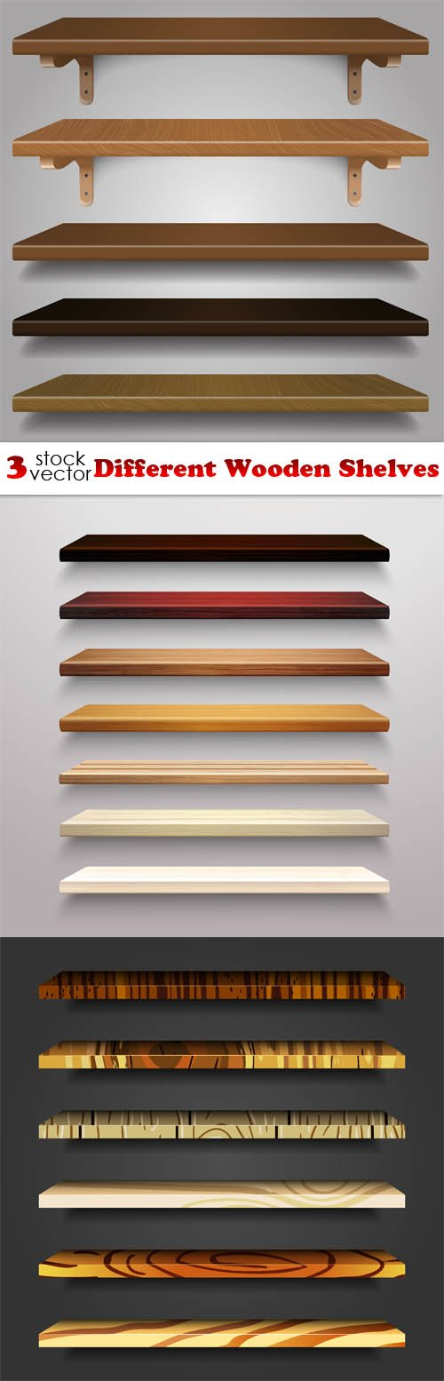 Vectors - Different Wooden Shelves