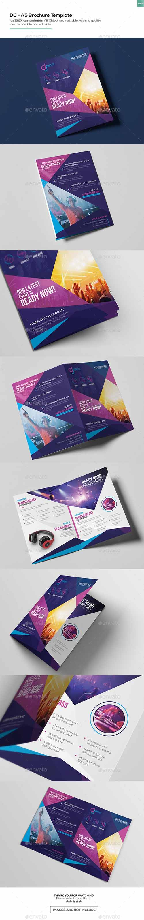 DJ/ A5 Brochure Template 15993857