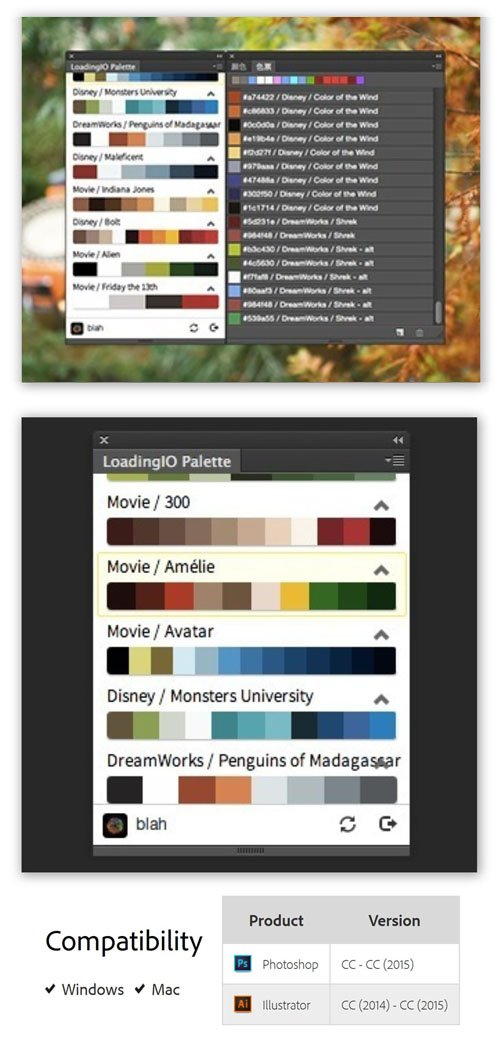 Loading.IO Colors 1.0.0 Plug-in for Photoshop & Illustrator