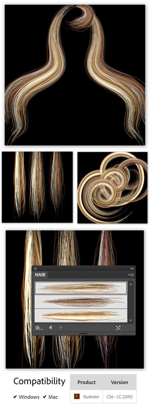 AI Hair Brush 2.0.0 Plug-in for Illustrator
