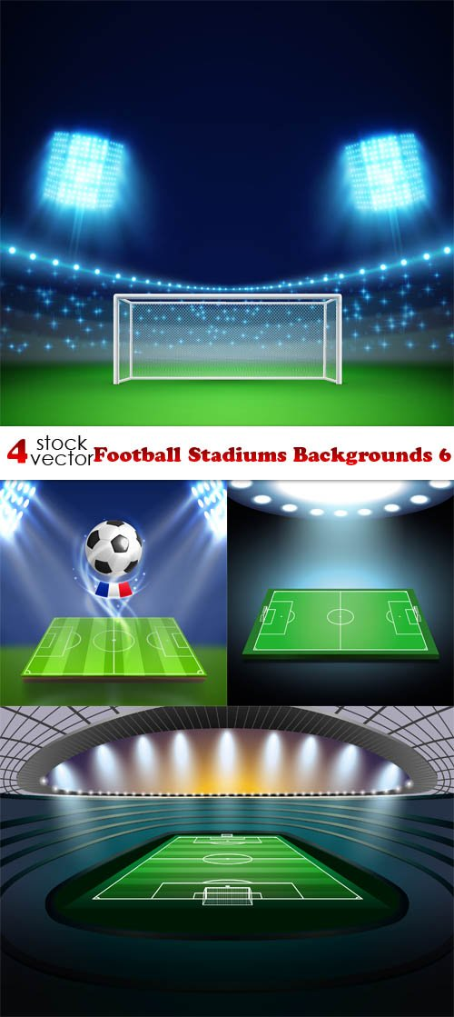 Vectors - Football Stadiums Backgrounds 6