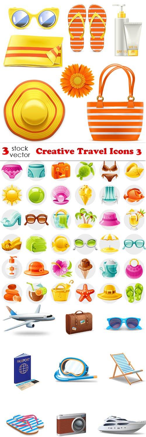 Vectors - Creative Travel Icons 3