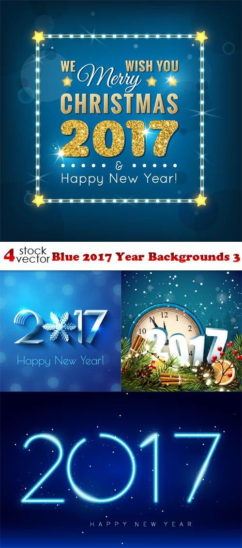 Vectors - Blue 2017 Year Backgrounds 3